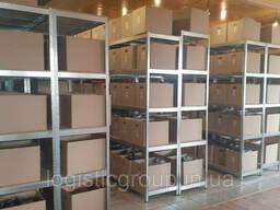 Стеллаж полочный 2200х1000х400мм, 150кг, 5 полок с ДСП/МДФ оцинкованный для архива. ..
