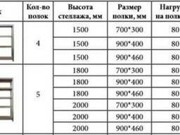 Стеллаж разборной с полками из МДФ 10мм.