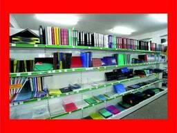 Стеллажи металлические для канцтоваров, книг, дисков