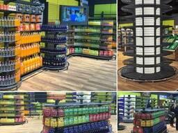 Стеллажи островные для магазина продуктов