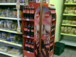 Стенд рекламный  для напитков Coca-Cola