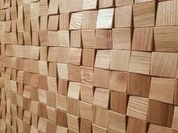 Стеновая панель из массива дуба и ясеня