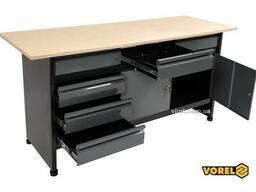 Стіл для майстерні Vorel 1700 х 600 х 840 мм 6 шухляд з лакованої бляхи 0.8-1 мм
