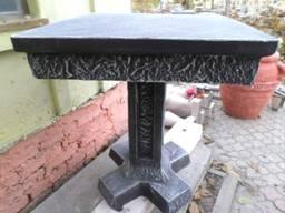 """Стіл """"Квадрат №1"""", бетонний, вуличний, L650*b650*h800"""