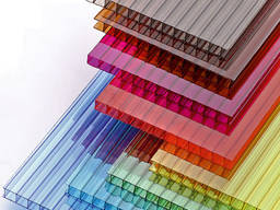 Стільниковий(сотовый)полікарбонат кольоровий 20х2100 х 12000