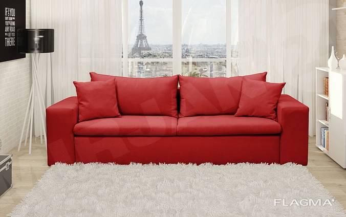 Стильный диван раскладной - Еврокнижка. Ниша. Подушки