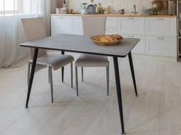Стильный обеденный стол серый