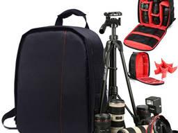 Стильный рюкзак для фототехники (фотоаппарата) Photo Bag чёрный