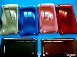 Стильный яркий пластмассовый перламутровый чехол хром для iP