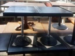 Стол б/у черный, деревянная столешница, нога металл