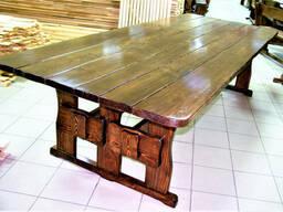 Стол деревянный для дачи и сада 3000*1200