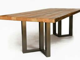 """Стол деревянный """"Qoob"""" из массива ясеня в стиле LOFT"""