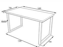 Стол для кафе из массива дерева в стиле loft 140х70