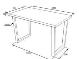 Стол для кафе в стиле LOFT с металлическими ножками 120х70