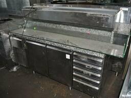 Стол холодильный б у для пиццы 2 двери 5 шухляд Electrolux