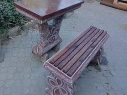 Стол и лавочка , комплект садово-парковой мебели