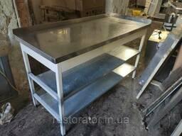 Стол из нержавеющей стали с 2-мя бортами 1400х600х850б/у