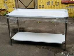 Стол из нержавеющей стали с полкой, разделочный стол 1, 1 м