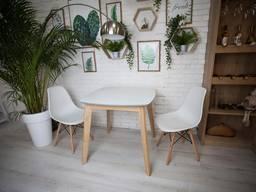 Стол квадратный кухонный белый Джузеппе, обеденный стол