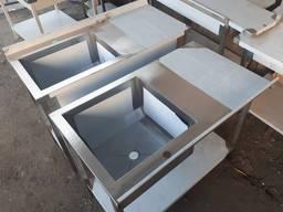 Стол-мойка 1200х600х850 мм глубина чаши 300 мм