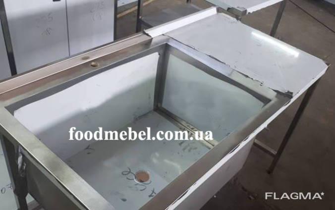 Стол-мойка 1500х700х850 с ванной моечной 1000*580*400 мм из нержавейки