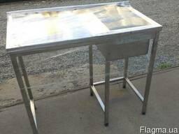Стол мойка нержавеющая сталь под посудомоечную машину