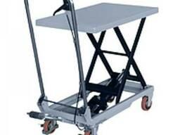 Стол подъемный гидравлический ручной 150кг-720мм