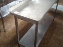 Стол производственный б/у из нержавеющей стали для кафе