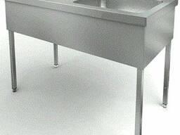 Стол производственный со встроенной моечной ванной. ..