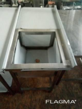 Стол с мойкой из нержавеющей стали