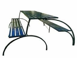 Уличная лавочка стол-скамейка трансформер для пикника