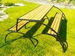 Стол-скамейка лавочка трансформер для пикника - фото 3
