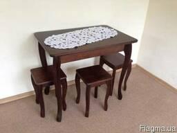 Стол табурет деревянный