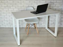 Стол Тавол КС 8. 3 металл опоры белые 100смх70смх75см ДСП. ..