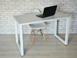 Стол Тавол КС 8. 3 металл опоры белые 120смх70смх75см ДСП. ..