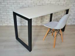 Стол Тавол КС 8. 3 металл опоры черные 100смх70смх75см ДСП. ..