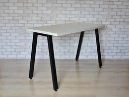 Стол Тавол КС 8. 4 металл опоры черные 140смх60смх75см ДСП. ..