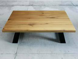 Стол журнальный для офиса Loft из натурального дерева