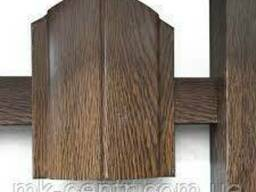 Столб для забора 2,5 м оцинкованный с покрытием в цвет штакетника 60*40 мм