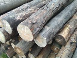Столбики для забора круглые подтоварник деревянный Сосна 2, 5 м.