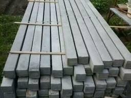 Столбик бетонный для малины 75Х75Х1500, 75Х75Х2200