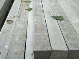 Столбик бетонный для монтажа заборных секций или сеток