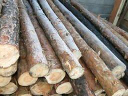 Столбики строительные круглые (подтоварники) кругляк 2,5 м.