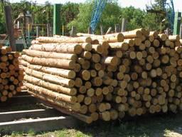 Столбы деревянные для забора, траверсы, беседки, сосна, опоры, траверсы, рудстойка