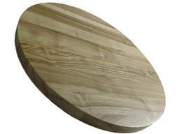 Столешница на кухню из массива дерева круглая из ясеня