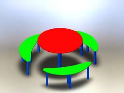 Столик для детской площадки, шестиместный