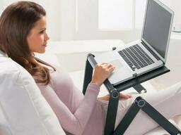 Столик трансформер для ноутбука Laptop Table T8 с охлаждением