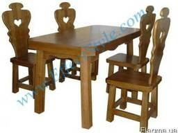 Столовый комплект купить в дубе мебель из массива дерева