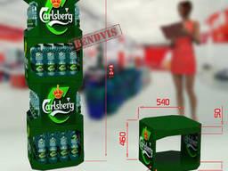 Стойка торговая Carlsberg для пива