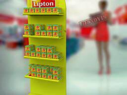 Стойка  торговая для чая Липтон